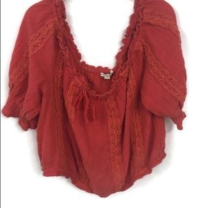 AMERICAN EAGLE CROPPED PEASANT TOP XXL